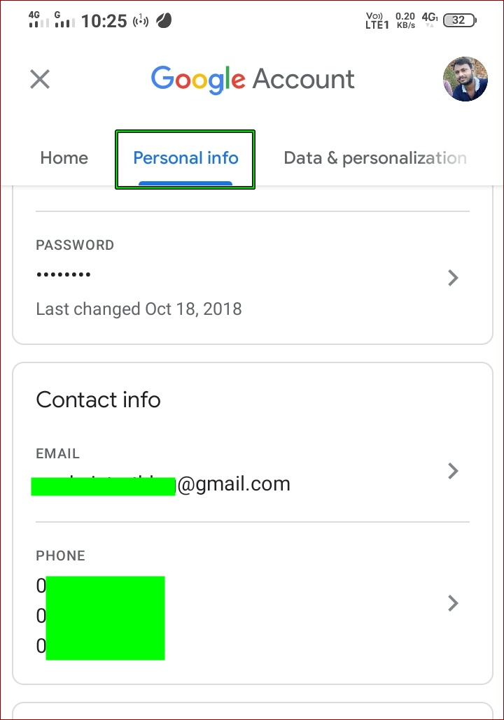 How to change mobile number of Gmail account